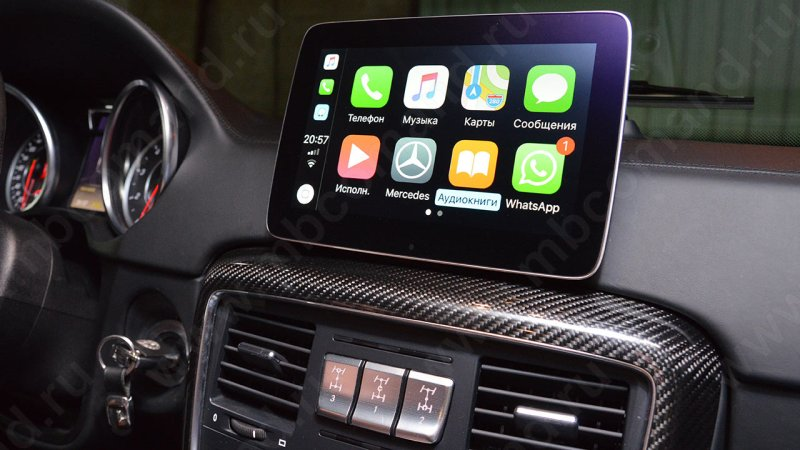 Активация Apple CarPlay и AndroidAuto Мерседес