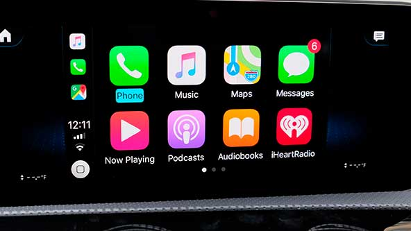 Apple CarPlay на Мерседес GLS x167