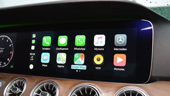 Apple CarPlay на Мерседес c238